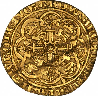 Reverse of a 4th Coinage Half Noble of Edward III
