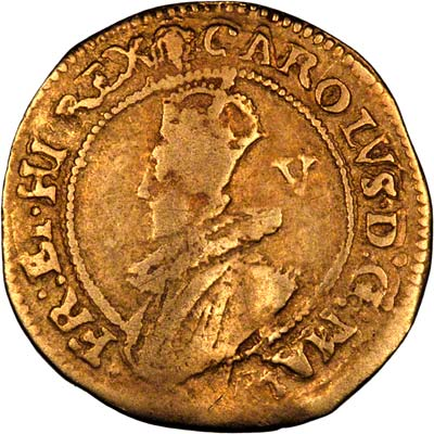 Obverse of Charles I Gold Crown