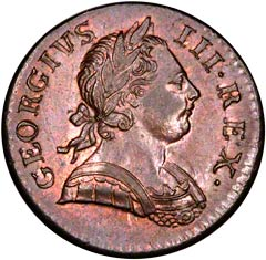 Halfpenny of George III