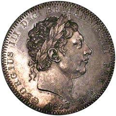 1820 Silver Crown of George III