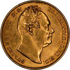 Gold Sovereign of William IV