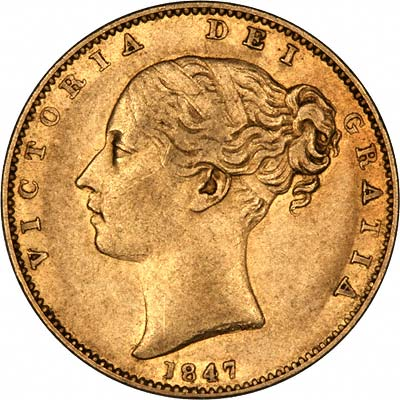1847 Victoria Young Head Obverse