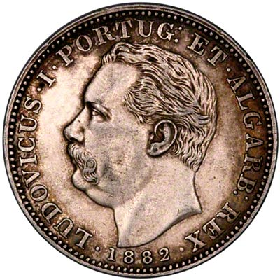 Obverse of 1882 India Rupee