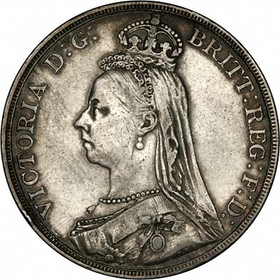Queen Victoria Jubilee Head Crown 1890