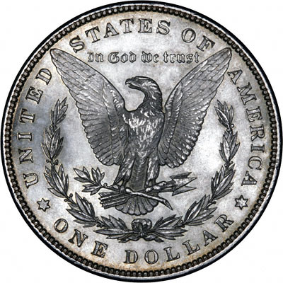 Reverse of 1898 American Morgan Type Silver Dollar