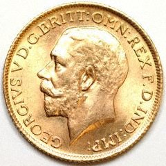 Obverse of 1912 Sovereign