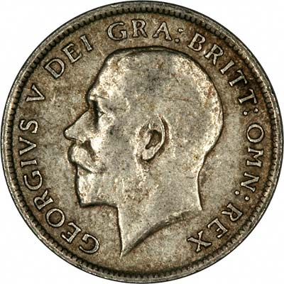 Obverse of 1919 Sixpence