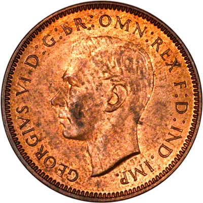 Obverse of 1940 Farthing