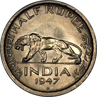 Reverse of 1963 India One Rupee