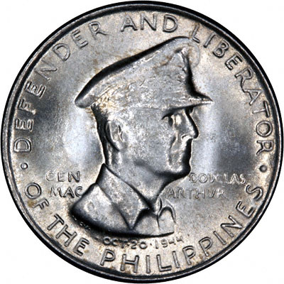 Obverse of 1947 Philippines 50 Cents