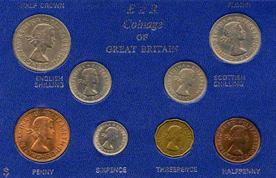 Obverse of 1964 Selected Coin Set