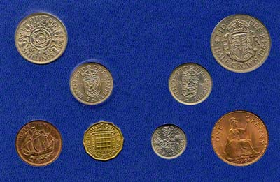 Reverse of 1964 Selected Coin Set