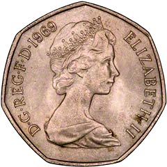 1969 Fifty New Pence