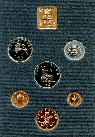 Obverse of 1971 Uncirculated Set