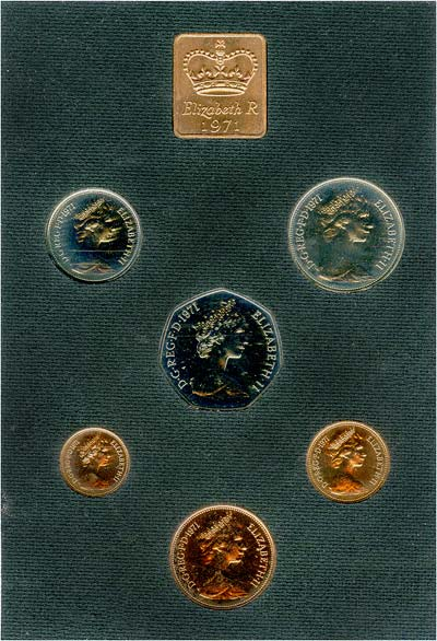 Reverse of 1971 Uncirculated Set