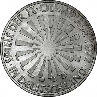Reverse of 1972f Germany 20 Marks