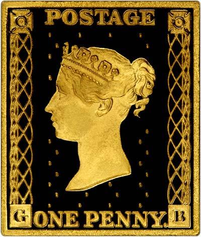 Gold Replica Stamps Penny Black Gold Stamp Replica
