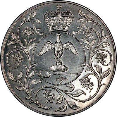 Obverse of 1977 Queen's Silver Jubilee Crown
