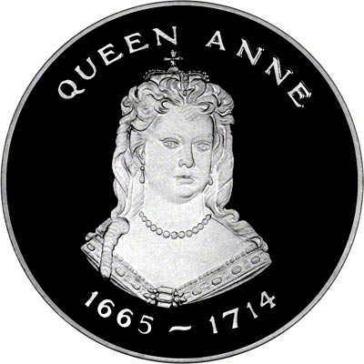 Obverse of 1977 Queens of the British Isles - Anne