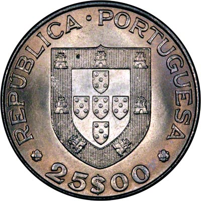 Obverse of 1984 Portugal 25 Escudos