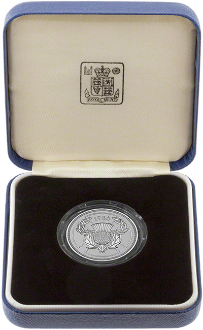 1986 Silver Proof Two Pound Coin in Presentation Box