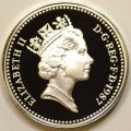 Third Portrait on Obverse of 1987 Pound Coin