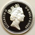 Third Portrait on Obverse of 1989 Pound Coin