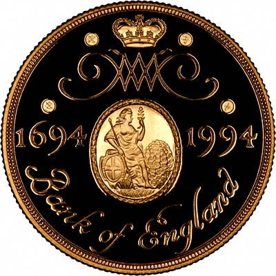 Reverse of 1994 Two Pounds Bank of England