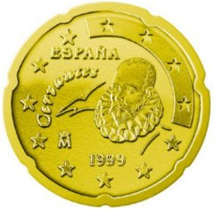 1999 Spanish 20 Euro Cent Coin