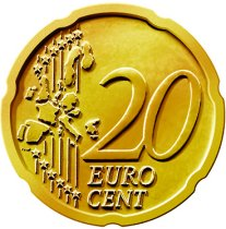 Common Reverse of the 20 Euro Cent Coin