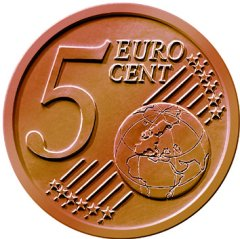 Common Reverse of all 5 Euro Cent Coins