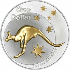 2005 Selectively Gold Plated Silver Kangaroo