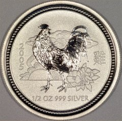 Reverse of 2005 Australian Half Ounce Silver Year of the Rooster Coin