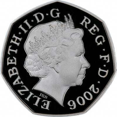 Obverse of Silver Proof 2006 Fifty Pence
