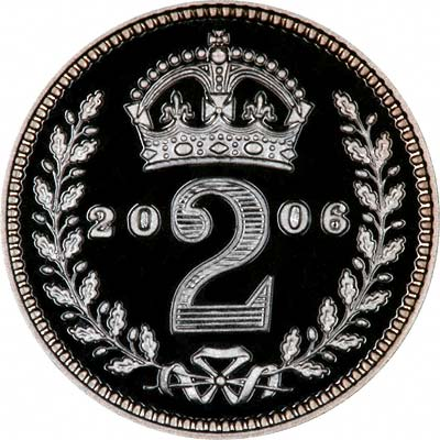 Reverse of 2006 Maundy Twopence