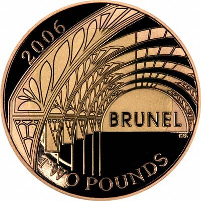 Reverse of 2006 Brunel Achievements Two Pounds