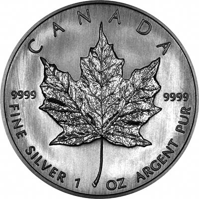 Reverse of 2006 Silver Canadian Maple Leaf