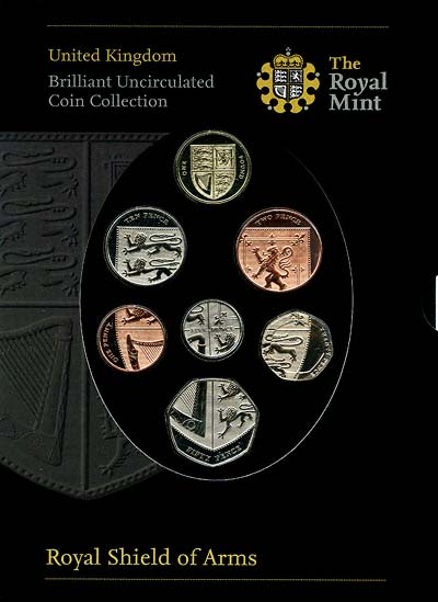 2008 UK Royal Shield of Arms Mint Coin Collection in Folder