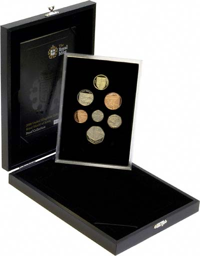 2008 UK Royal Shield of Arms Proof Coin Collection in Box
