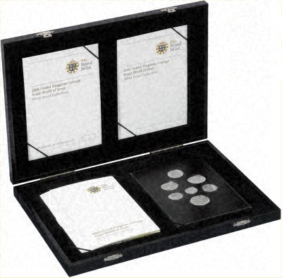 2008 UK Royal Shield of Arms Silver Proof Coin Collection in Box