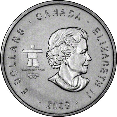 Obverse of 2009 Canada 2010 Vancouver Olympics