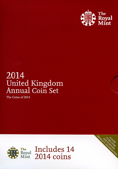 2014 Fourteen Coin Annual Set - Front Cover