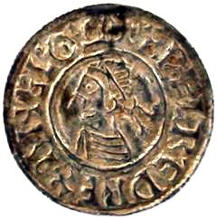 Obverse of Ethelred II Silver Penny
