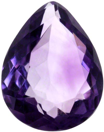 10x8mm Pear Shape Amethyst