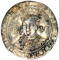 Edward VI on a Silver Sixpence