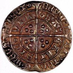 Reverse of Henry VI Calais Silver Groat