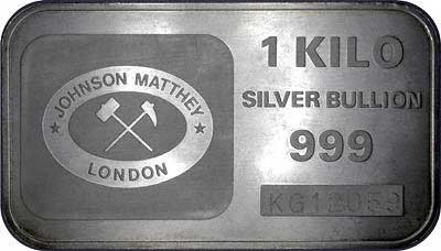 Johnson Matthey 1 Kilogram Silver Bar