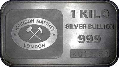 Johnson Matthey 1 Kilogram Silver Bar