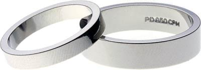 Pair of Flat Palladium Wedding Rings