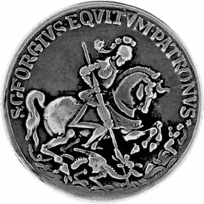 Saint George And The Dragon Silver Medallion